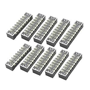 Amazon.com: uxcell® 600V 15A Dual Row 8 Position Screw
