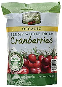 Paradise Meadow Organic Plump Whole Dried Cranberries 24