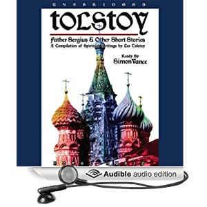 "Cover of the audiobook edition of ""Father Sergius and Other Short Stories"" by Leo Tolstoy"