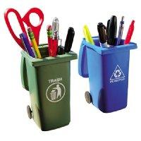 Mini Trash Can Pencil Holder Set | shopswell
