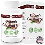 60 Organic Coconut Oil Capsules 2000mg; Vegetarian and Vegan safe Coconut Oil Capsule; Non-GMO & Gluten Free; Made In USA