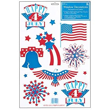 Fourth of July Window Clings Stickers