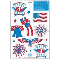 Fourth of July Window Clings Stickers | Fourth Of July Wikii