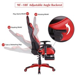 Top Gaming Chair Cover Rentals Memphis Gamer Ergonomic High Back Swivel Computer Office With Footrest Adjusting Headrest And Lumbar Support Racing Red Black