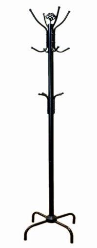 Coat Rack Hat Stand Hall Tree Wood Metal Hook Hanger