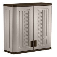 Suncast Wall Storage Cabinet, Platinum Garage Kitchen ...