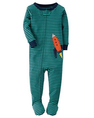 Carters-Baby-Boys-Snug-Fit-Cotton-Footie-Pajamas-Turquoise-5T