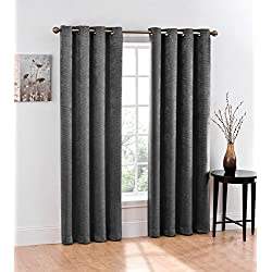 2 Pack: Regal Home Chevron Energy Saving Thermal Blackout Curtains For GoodGram® - Assorted Colors (Stone/Grey)