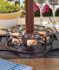 Scroll Patio Umbrella Candle Holder / Candleholder Home