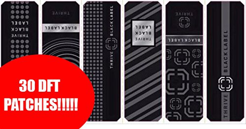 Thrive Level Black Label Patches 30 Patches DFT