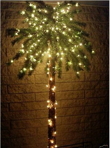 Artificial flora 7 Foot Lighted Palm Tree  300 Lights