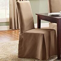 Amazon.com - Sure Fit Cotton Duck Long Dining Room Chair ...