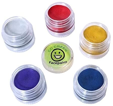 Face paint - Certified Organic Face Paint for Kids, No Lead Paint in Stacking Jars, Even for the Most Sensitive Skin, Best for Parties, Halloween and Sporting Events, Makes Your Favorite Halloween Designs even Better, Made in USA.