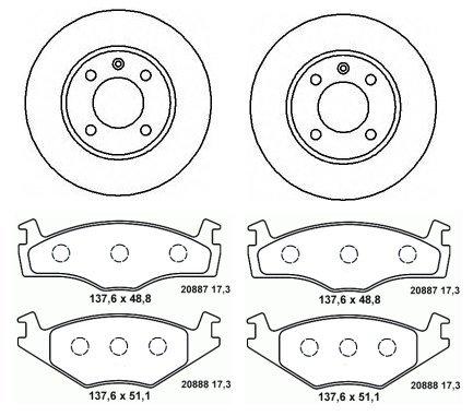 Bremsen-Set! VW Polo 86c - Bremsen-Bremsscheiben + Beläge vorne/Vorderachse