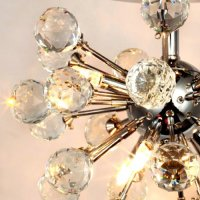 Annt Crystal Chandelier with 6 Lights in Globe Shape ...