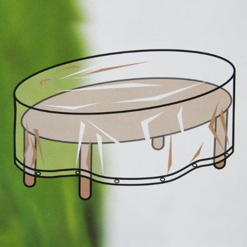 Feste Schutzhülle Gartenmöbel Abdeckung 250cm oval Sitzgarnitur