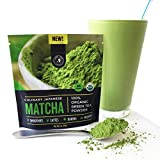 New! Authentic Japanese Matcha Green Tea Powder By Jade Leaf Organics - 100% USDA Certified Organic, All Natural, Nothing Added - Culinary Grade for Mixing into Smoothies, Lattes, Baking & Cooking Recipes (30g starter size)