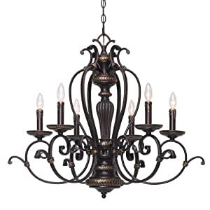 Golden Lighting 6029-CN6 EB Jefferson Six Light Candelabra