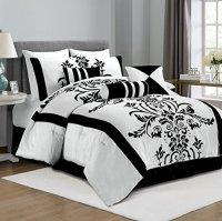 Black & White Damask Bedding Sets