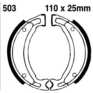 EBC Front Brake Shoes Yamaha YFM100 Champ,YFA1 Breeze