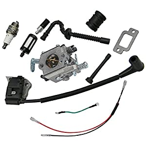 Amazon.com: HIPA Carburetor + Ignition Coil + Spark Plug