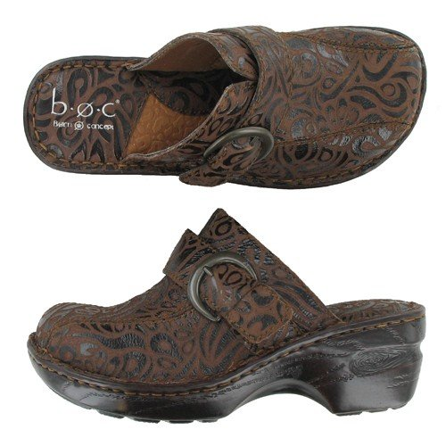Women's BOC by Born, Katina low heel leather Clogs T MORO 9 M
