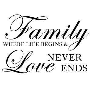 Download Family Where Life Begins And Love Never Ends - Wall Decal ...
