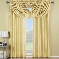 Luxury Soho Ivory Waterfall Valance, Solid Pattern, 57x37