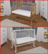 WALDIN-Cuna-colecho-para-beb-cuna-para-beb-altura-regulable-natural-sin-tratamientos-o-lacado-en-blanco