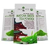 Organic Wise Matcha Green Tea Powder by Organic Wise Japanese Culinary Grade, AntiOxidant Powerhouse, Certified Organic by the Colorado Department of Agriculture, 4 oz