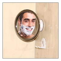 No Fog Shower Mirror with Rotating, Locking Suction; Bonus ...