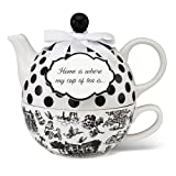 Pavilion Gift 49010 You and Me Tea for One Teapot Set by Jessie Steele