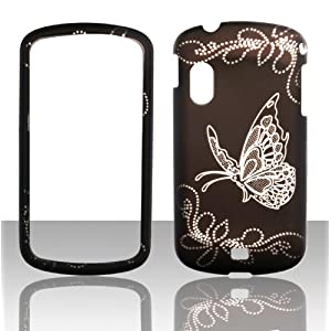 2D White Butterfly Samsung Stratosphere i405 Verizon Case Cover Hard Phone Case Snap-on Cover Rubberized Touch Faceplates