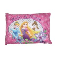 "Amazon.com - Disney Princess Toddler Pillow ""Wishes and ..."