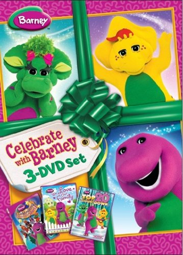 Barney - Celebrate with Barney [triple pack] (Please & Thank you / Furry Friends / Shapes & Colours) [DVD] [Import anglais]