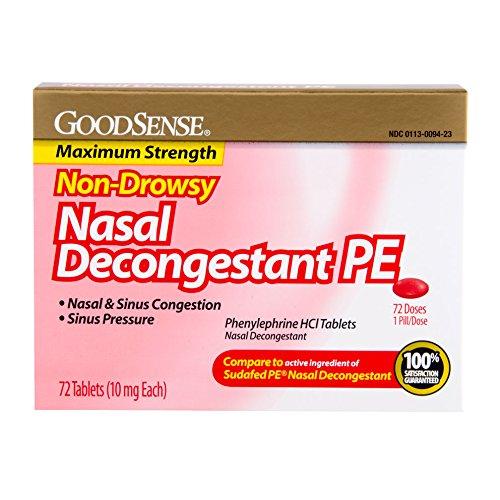 GoodSense Nasal Decongestant Phenylephrine HCl 10 mg ...
