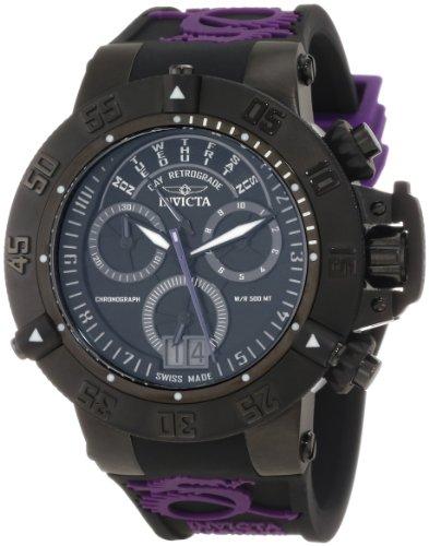 s 10190 subaqua noma iii chronograph black dial black,purple silicone watch,invicta men,video review,(VIDEO Review) Invicta Men's 10190 Subaqua Noma III Chronograph Black Dial Black and Purple Silicone Watch,