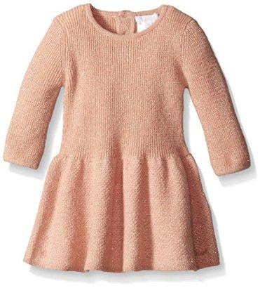 Chloe-Baby-Girls-Drop-Waist-Knitted-Lurex-Dress-Rose-6-Months