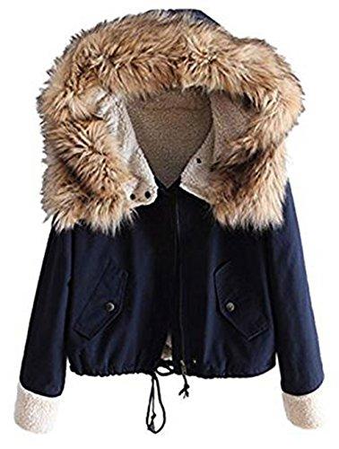 Sevenelks Damen Mädchen Winterjacke Jacke Mantel mit Kapuze