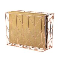 U Brands Hanging File Desk Organizer, Wire Metal, Copper ...