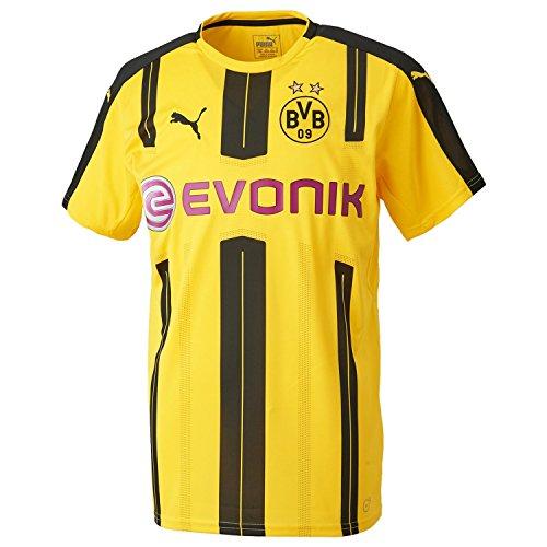 PUMA Herren Trikot BVB Home Replica Shirt with Sponsor Logo