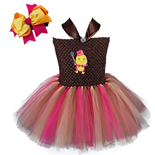 Tutu Dreams Thanksgiving Turkey Tutu Costumes for Girls (1 for 12-24M, Hot Pink mix)
