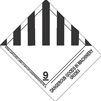 GC Labels-L322P3011, Dangerous Goods In Machinery UN3363