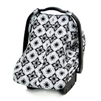 Amazon.com: JJ Cole Car Seat Canopy, Black Magnolia ...