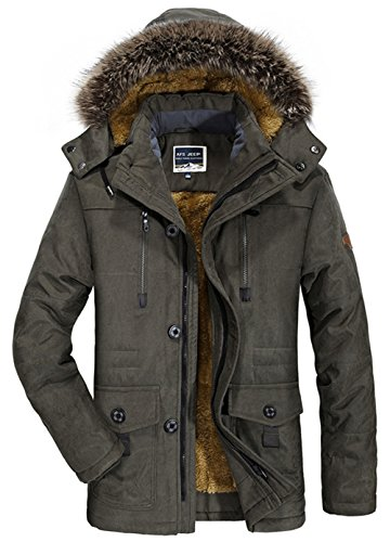 SZYYSD Herren Winter Warm Baumwolle Militär mit Kapuze Jacken Mäntel Mens Military Hooded Coat Jacket Parka