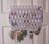 Earring Angel Hanging Pierced Earring Organizer Tree Stand ...