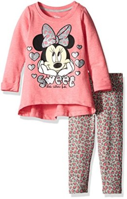 Disney-Girls-Little-Girls-2-Piece-Minnie-Heathered-French-Terry-Top-and-Legging-Pink-18-Months