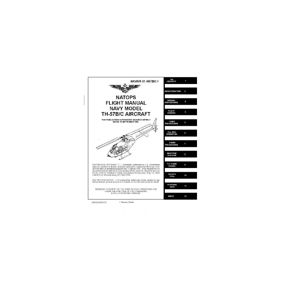 Bell Helicopter TH 57 A /B Flight Manual Bell OH 58 Kiowa