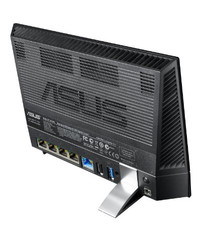 Asus RT-AC56U Gigabit Router Wireless AC1200 Mbps, DualBand, 5 porte Gigabit (di cui 1WAN), 2 Porte USB (2.0 - 3.0), Nero/Antracite