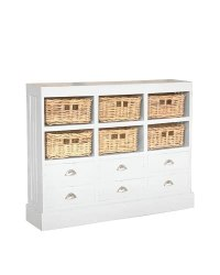 Jeffan Nantucket Storage Cabinet, Antique White   Prime ...